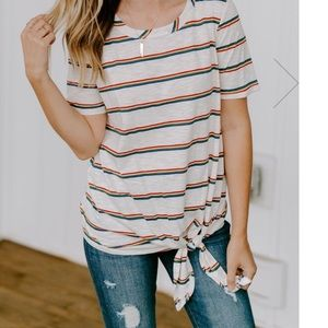 Striped tee - worn once!!